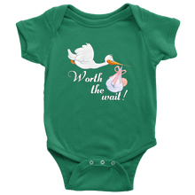 Cute Worth The Wait Baby Infant Creeper Onesie