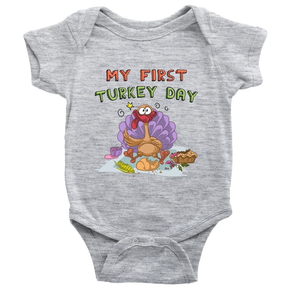 Unisex My first Turkey Day Baby Bodysuit Infant Romper Onesie