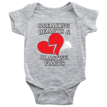 Breaking Hearts And Blasting Farts Unisex Baby Bodysuit Romper Onesie
