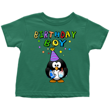 Birthday Boy Colorful Penguin Toddler T-Shirt