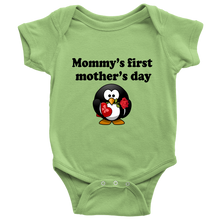 "Mothers Day Baby Onesie ""Mommy's First Mother's day"" Cute Baby Bodysuit"