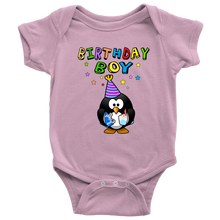 Birthday Boy Colorful Penguin Baby Onesie