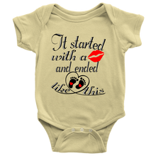 It Started With A Kiss And Ended Like This Baby Romper Infant Bodysuit