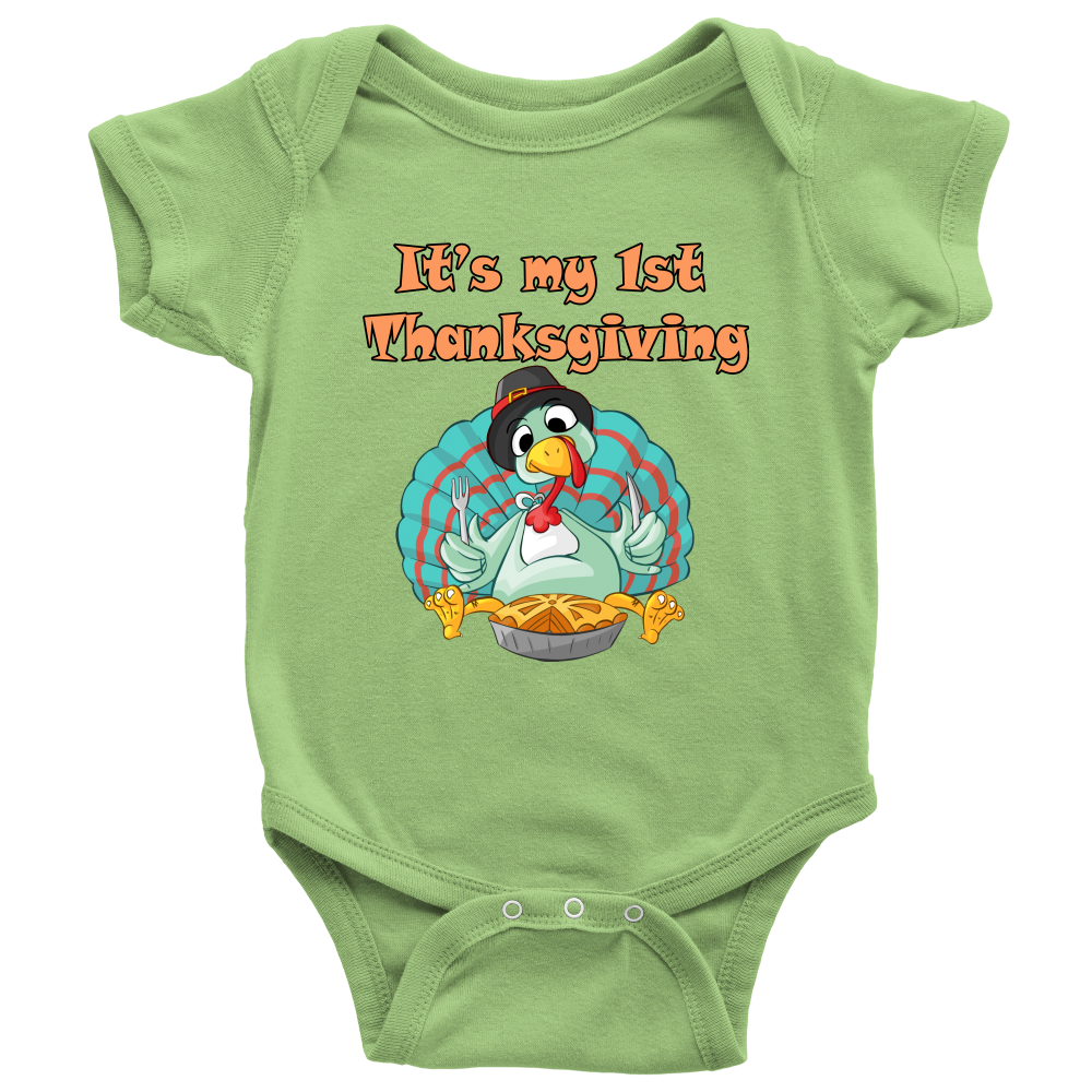 It's My 1st Thanksgiving Baby Onesie