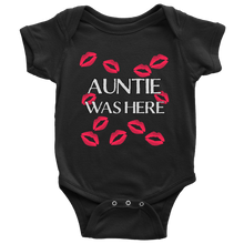 Auntie Was Here Red Kisses Infant Bodysuit Baby Romper onesie