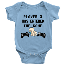 Player 3 Has Entered The Game Funny Gift Unisex Baby Bodysuit