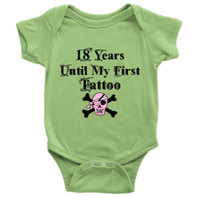 18 Years Until My First Tattoo Cool Baby Bodysuit