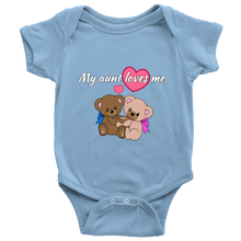 My Aunt Loves Me Baby Bear Baby Onesie