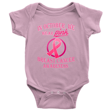 Wear Pink For Breast Cancer Awareness Baby Bodysuit Romper Onesie