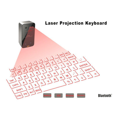 High Tech Bluetooth Wireless Laser Projection Keyboard--Virtual Projection, Portable for Smart Phones and Tablets - FreshShade