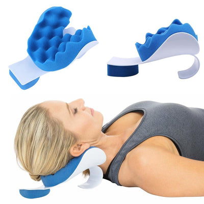 Traction Device-Pain Relief Pillow For Cervical Spine Alignment And Neck Support - FreshShade