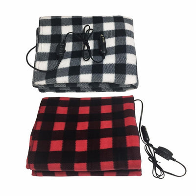 Super Soft Plaid Fleece Heated Blanket For The Car--Heated Car Accessories - Fresh Shade