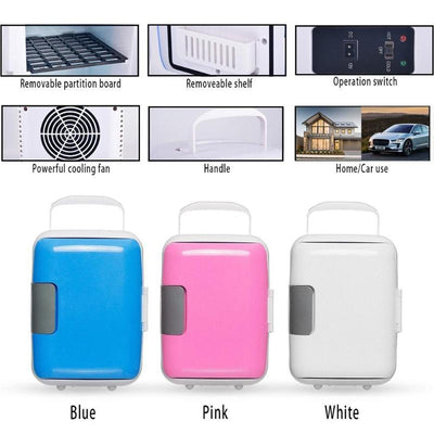 Ultra Quiet Portable Mini Fridge For Home, Car, & Travel - Fresh Shade