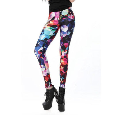 Women's Slim 3D Printed leggings - FreshShade