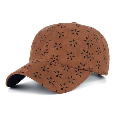 Suede Flower Pattern Snapback - Fresh Shade