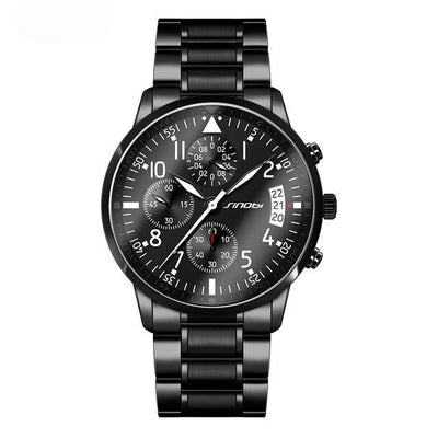 Men's Stainless Steel Military Style Sports Chronograph - Fresh Shade