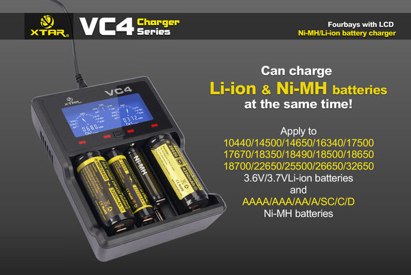 XTAR VC4 LCD Charger
