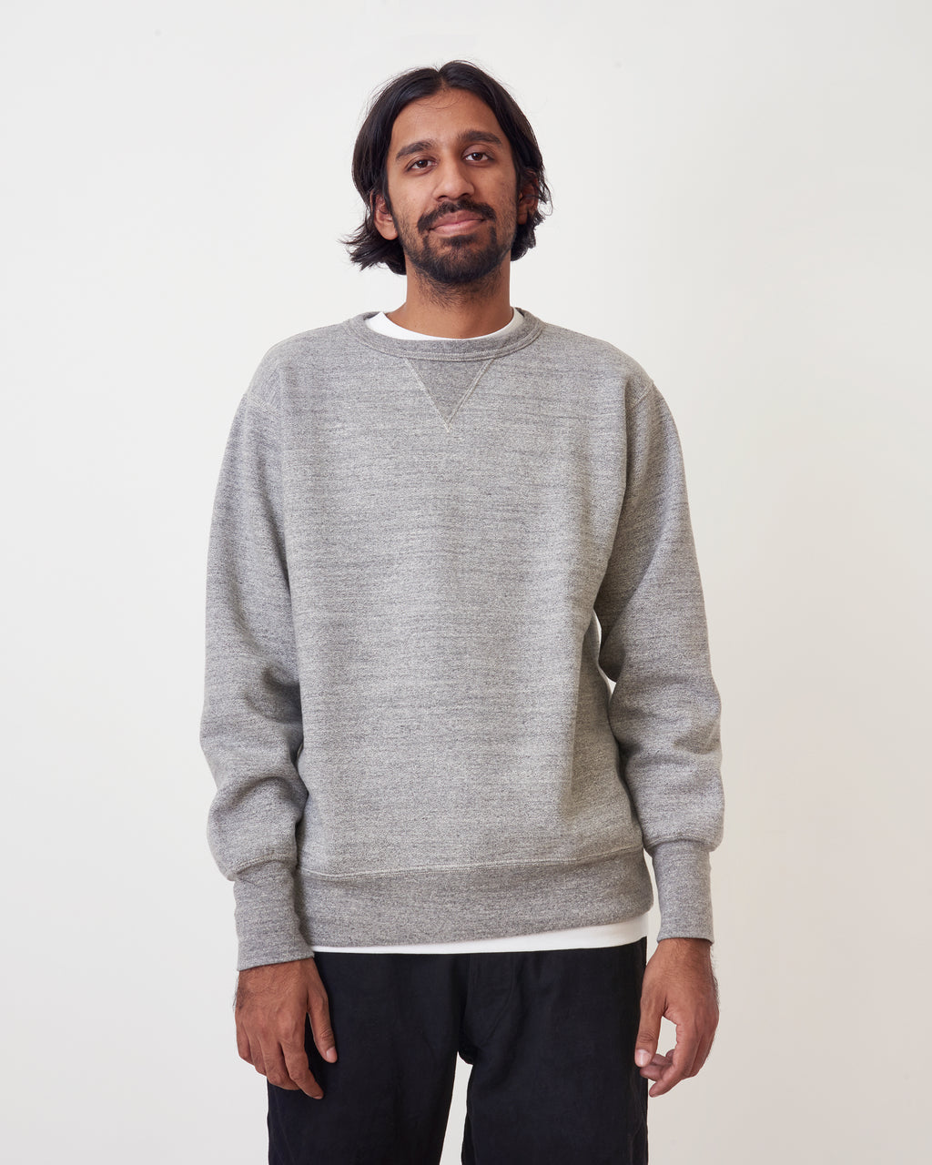 Ian Natural Cotton V Sweater