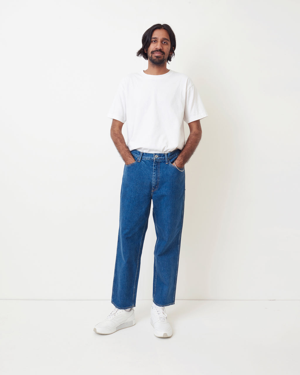 Pocket Wide Denim Pants