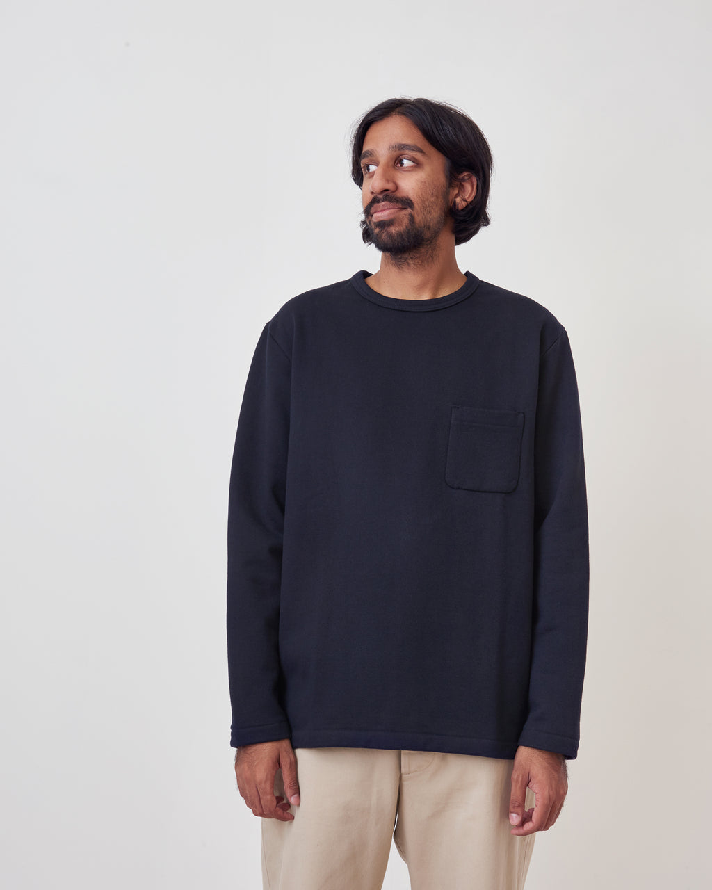 Heavyweight Fleece LS Pocket Tee