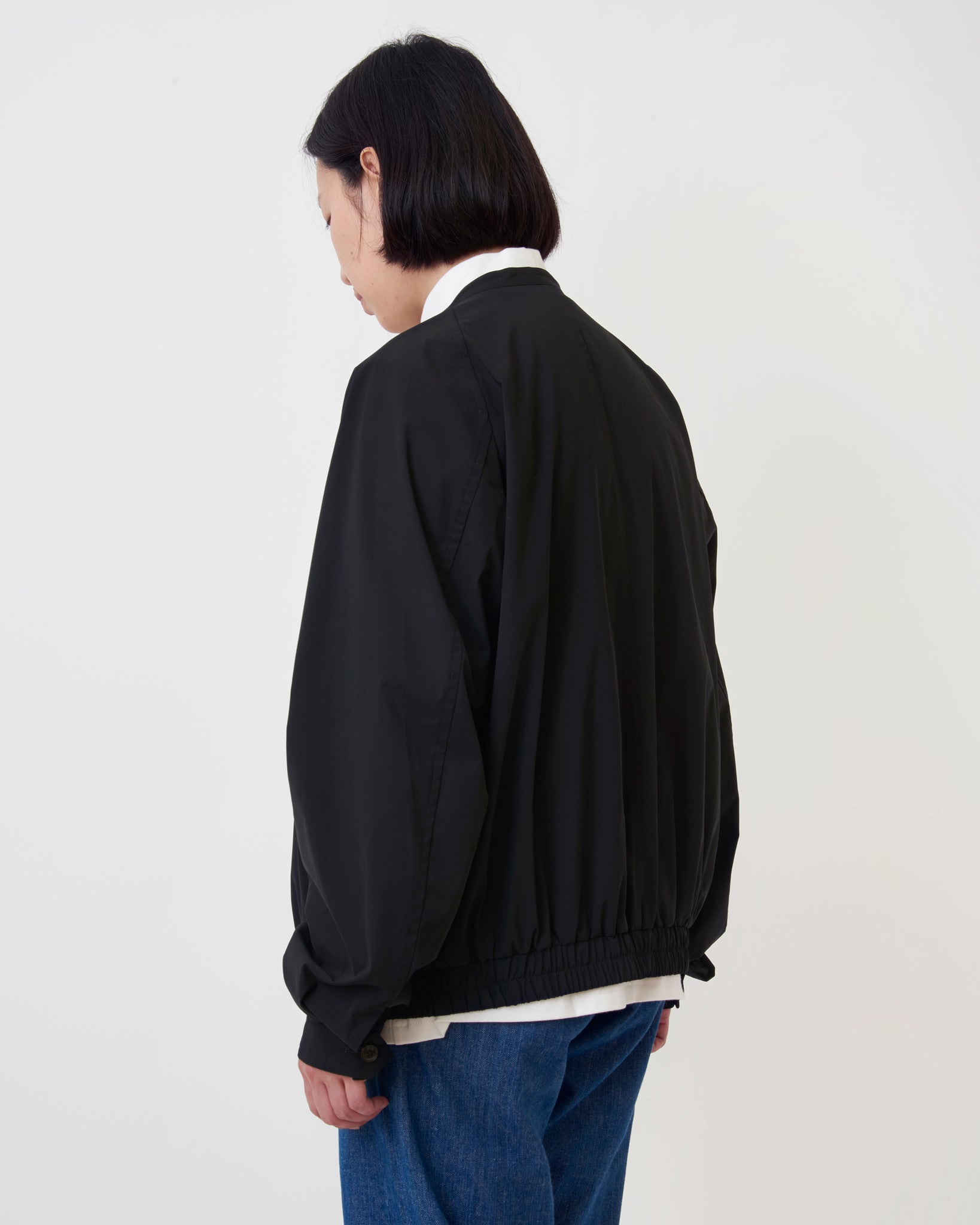 Sheer Zip Bomber Jacket