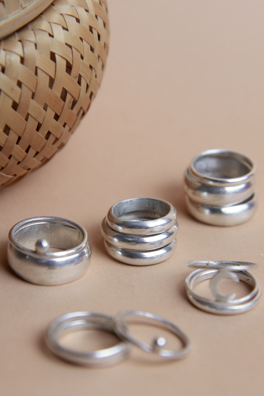 Handcrafted Thick Sterling Silver Stacker Ring