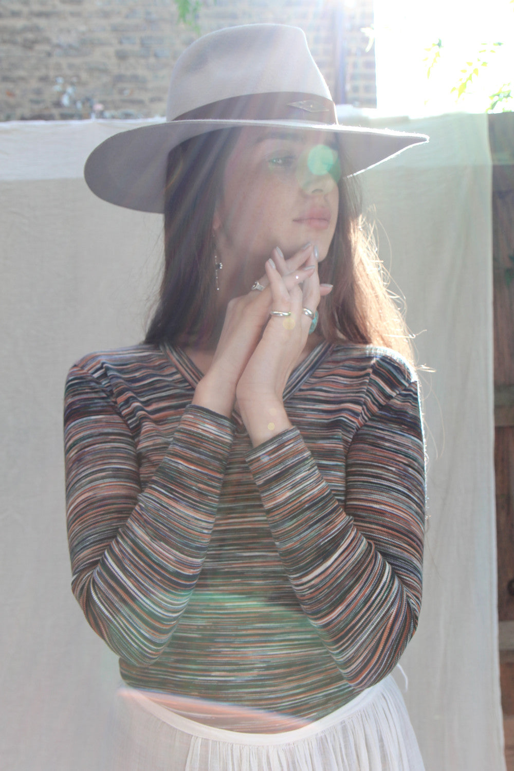 70s Sunset Striped Top