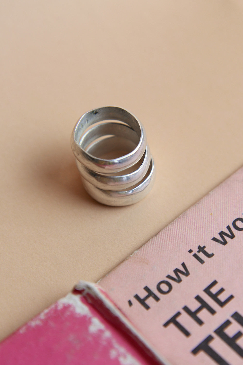 Handcrafted Chunky Sterling Silver Stacker Ring