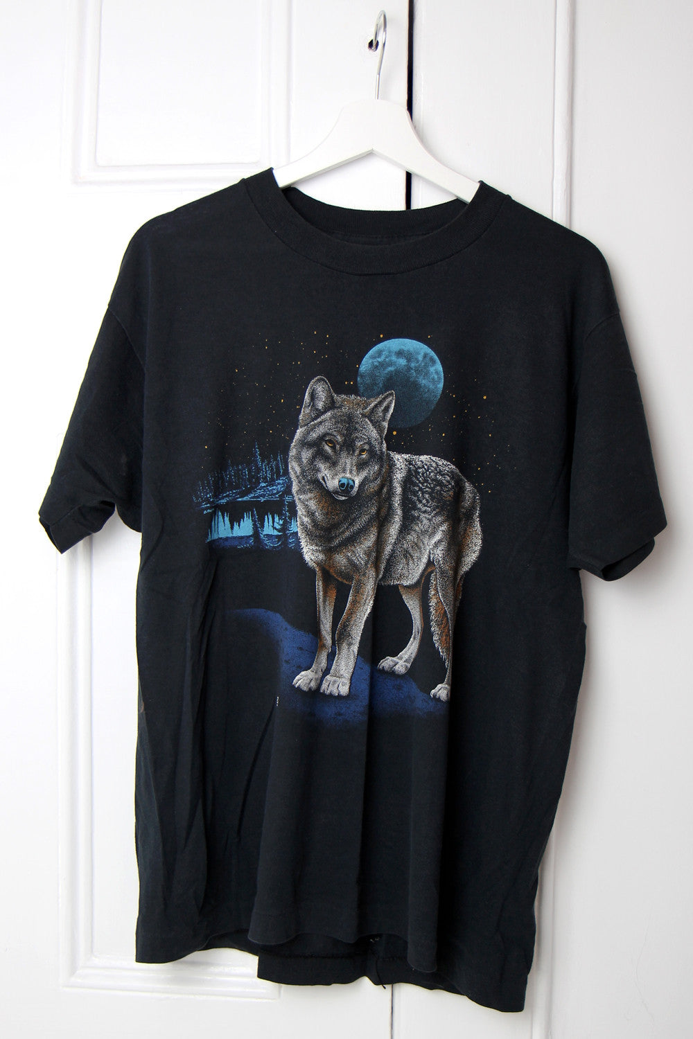 Original 1980s Tissue Thin Wolf T-shirt