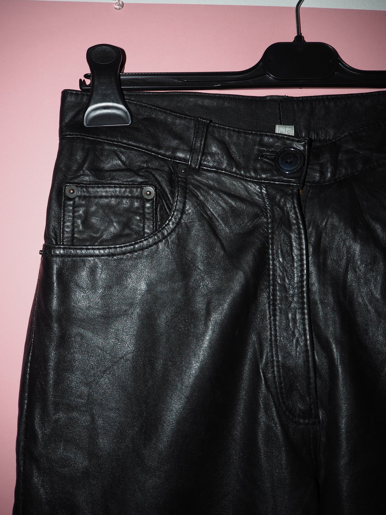 80s Soft Leather Trousers