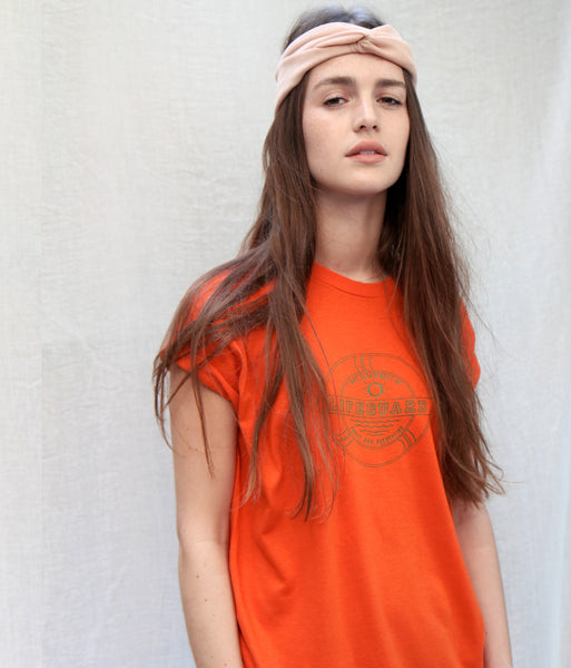 70s Orange Lifeguard T-shirt