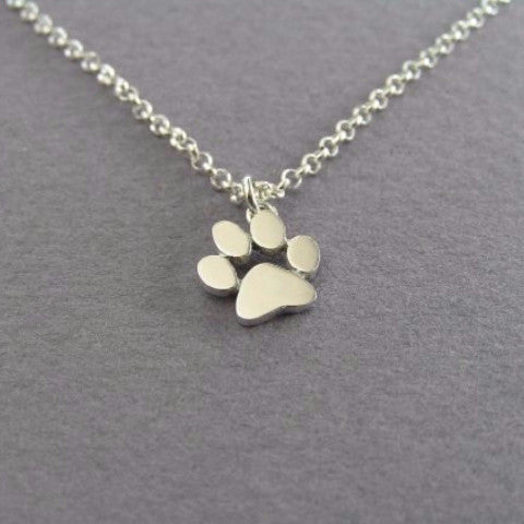 Dog paw print pendant necklace juggles hudson dog paw print pendant necklace aloadofball Gallery