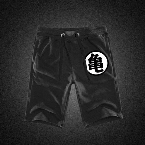 Dragon Drawstring Workout Shorts Black - FitKing