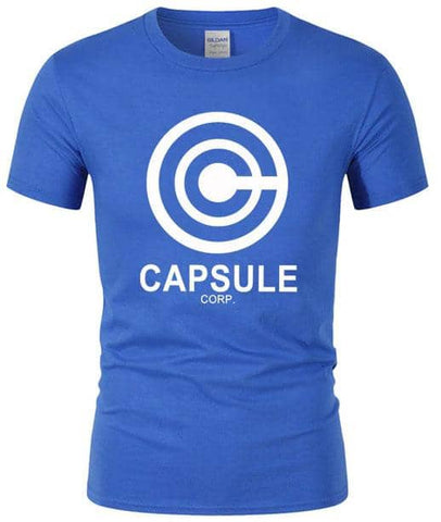 Dragon Capsule Fitted Shirt Blue White - Superhero Gym Gear
