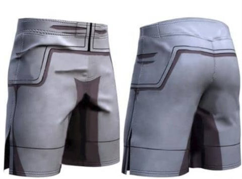Dragon Gray Men's Compression Shorts - Superhero Gym Gear