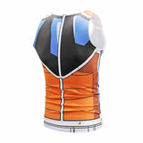 Dragon Workout Tank Orange Blue Armor - Superhero Gym Gear