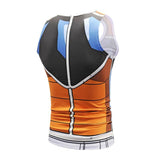 Dragon Workout Tank Blue and Orange Armor - FitKing