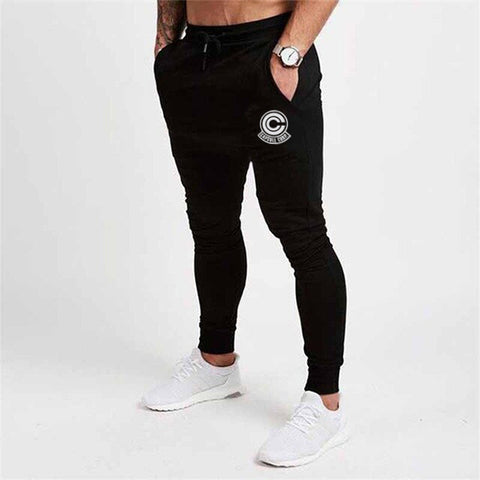 Dragon Capsule Fitted Workout Sweats Black - Superhero Gym Gear