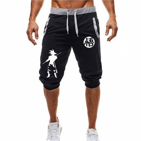 Dragon Fighter Ultra Instinct Shorts Black and White - Superhero Gym Gear