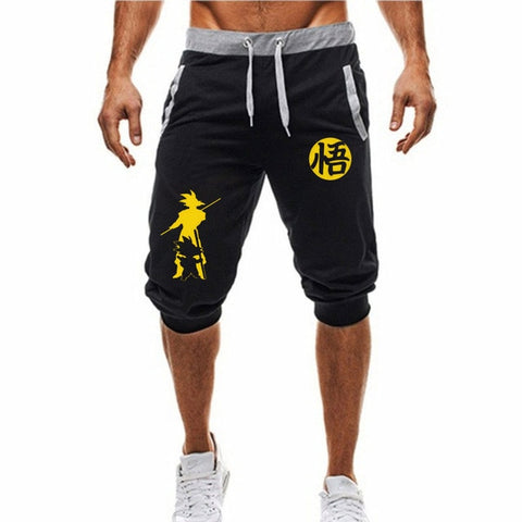 Dragon Fighter Ultra Instinct Shorts Black and Yellow - Superhero Gym Gear