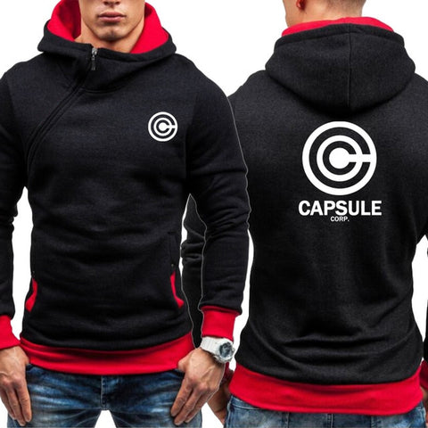 Dragon Capsule Final Form Side Zip Hoodie Black with Red Interior - Superhero Gym Gear