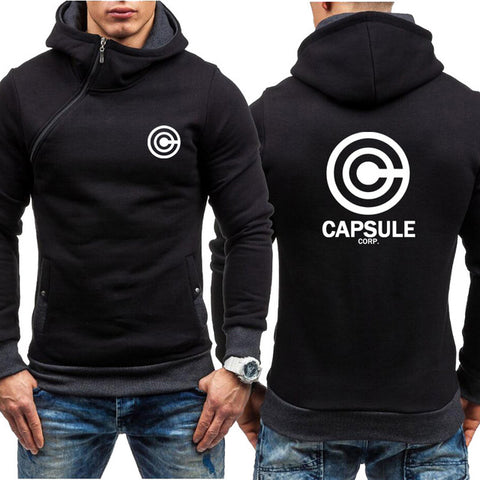 Dragon Capsule Final Form Side Zip Hoodie Black - Superhero Gym Gear