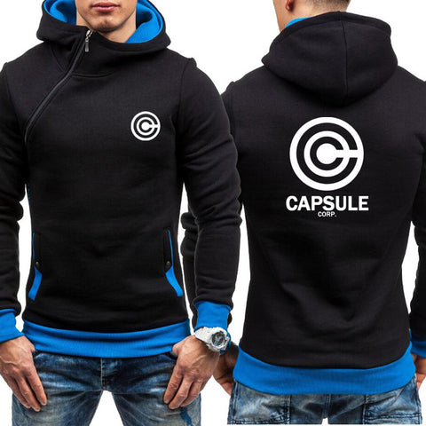 Dragon Capsule Final Form Side Zip Hoodie Black with Blue - Superhero Gym Gear