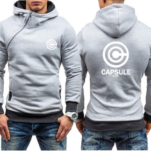 Dragon Capsule Final Form Side Zip Hoodie Light Gray - Superhero Gym Gear