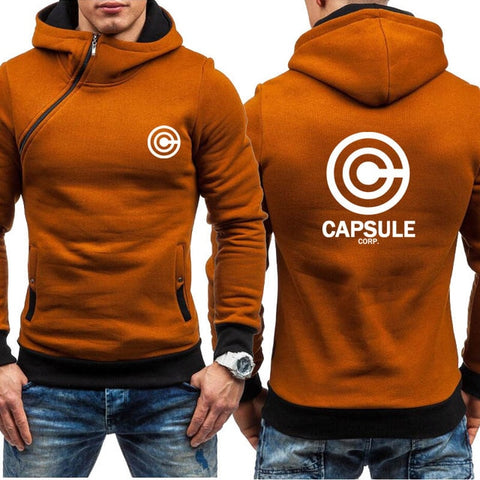 Dragon Capsule Final Form Side Zip Hoodie Saturated Brown - Superhero Gym Gear