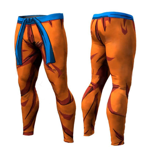 Dragon Warrior Orange Training Men's Leggings - Superhero Gym Gear