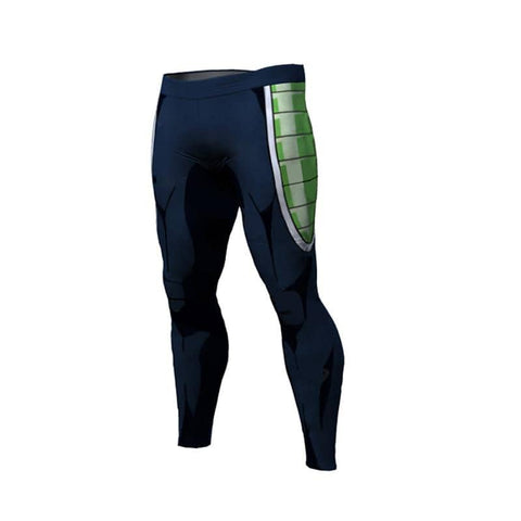 Dragon Warrior Blue Green Warrior Men's Leggings - Superhero Gym Gear