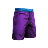 Dragon Warrior Purple Men's Compression Shorts - FitKing