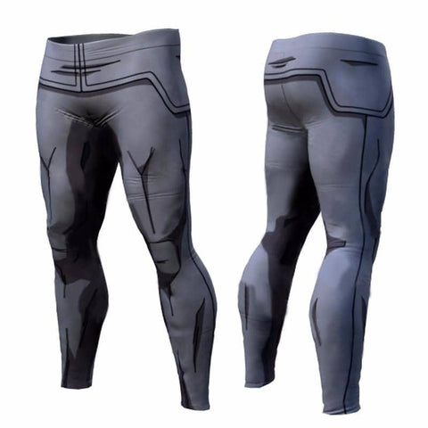 Dragon Gray Men's Leggings - Superhero Gym Gear