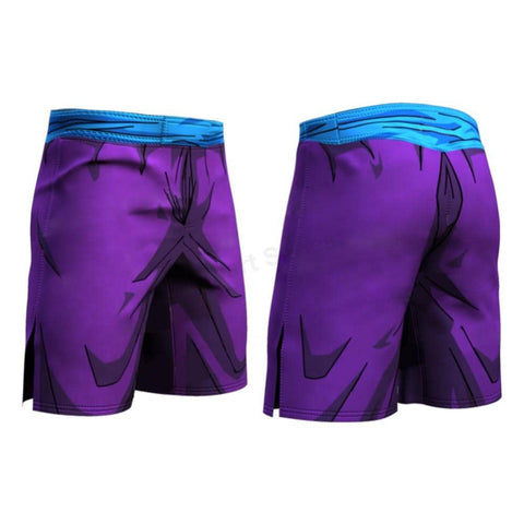 Dragon Warrior Purple Men's Compression Shorts - Superhero Gym Gear